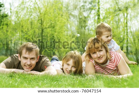 Happy Family Outdoor.Picnic
