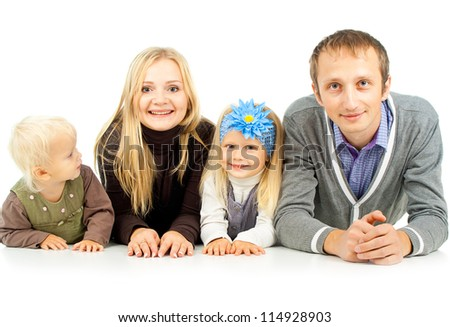 happy family with young children