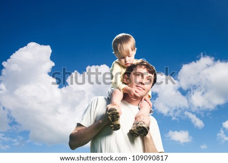 Happy Father and Son outdoor