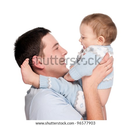 happy father with a baby