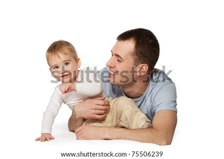 Happy father with his baby