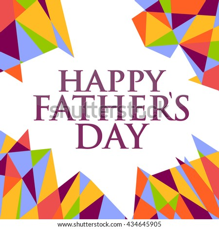 happy fathers day abstract sign background illustration design graphic #434645905
