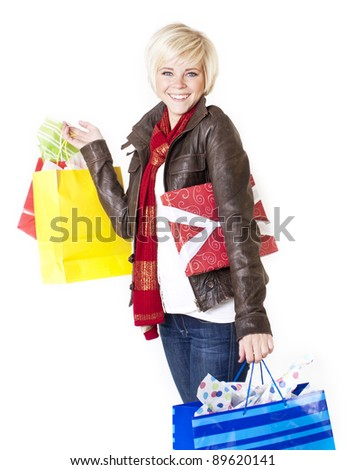 Happy Female Retail Shopper
