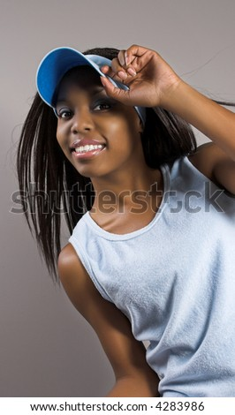 happy fitness model - stock photo
