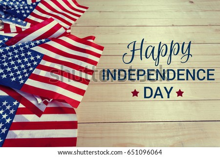 Happy Fourth of July USA Flag Stock photo ©
