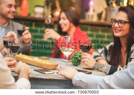 happy friends drinking...