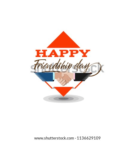 Happy Friendship day. typographic colorful design. Badges for your holiday design postcards, posters.