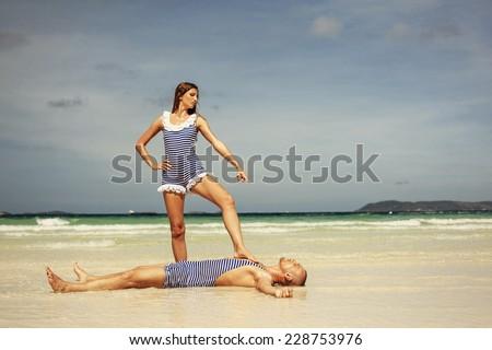 Happy funny couple