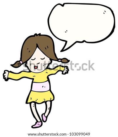 Dancing Girl Cartoon Images Happy Girl Dancing Cartoon