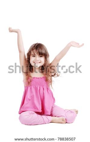 Happy girl isolated on white