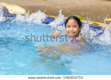 Happy girl relaxing enjoying hot tub bubble bath outdoors on summer vacation travel holiday, relaxation concept