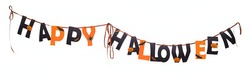 happy halloween decoration on white background. Holiday, spook concept