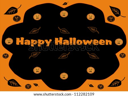 Happy Halloween illustration - stock photo