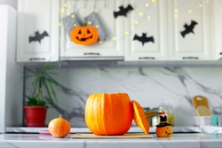 Happy Halloween! Kitchen decoration for Halloween.