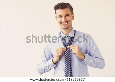 happy handsome business leader...