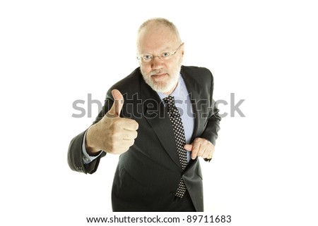 stock photo happy handsome mature business man showing thumb up on white background 89711683 Lita Ford
