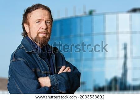 Happy handsome mature man posing Stock photo ©