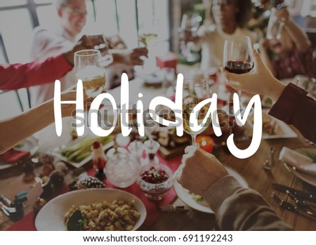 Stock Photo Happy Holiday Love Celebration Feast