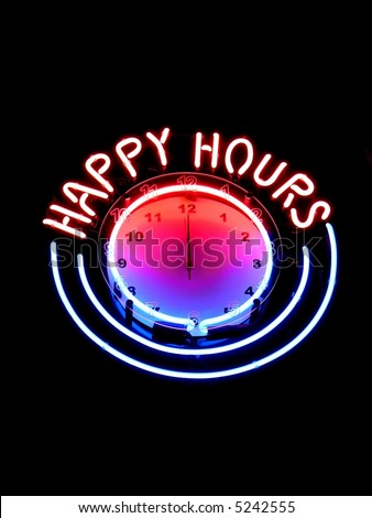 Happy hours clock in nightbar