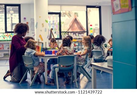 Happy kids at elementary school #1121439722
