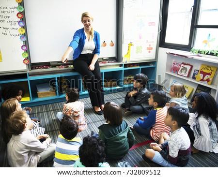 Happy kids at elementary school #732809512