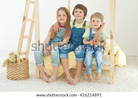 happy kids at home