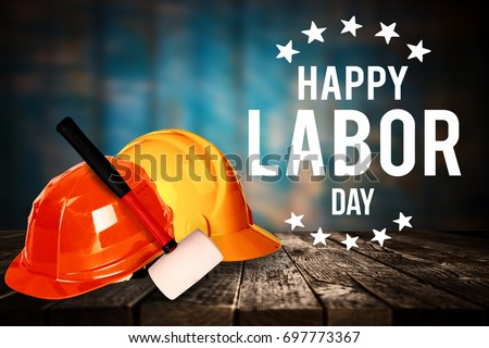 Happy Labor day banner, american patriotic background #697773367