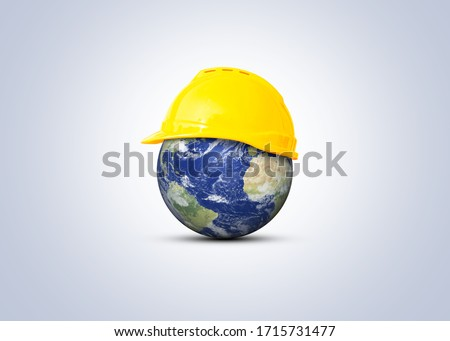 Happy Labour Day concept. 1st May- International labor day concept. Labor safety and right at Workplace. World Day for Safety and Health at Work concept. Safety first for worker.