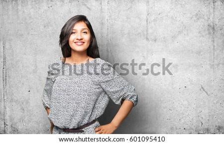 happy latin woman #601095410
