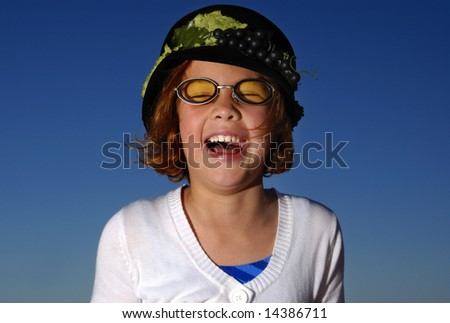 Happy laughing young girl - stock photo