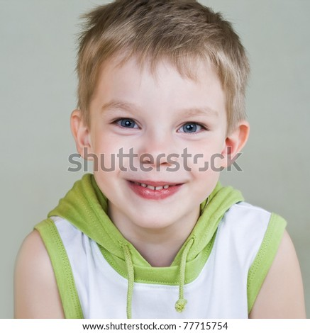 Happy little boy with smile