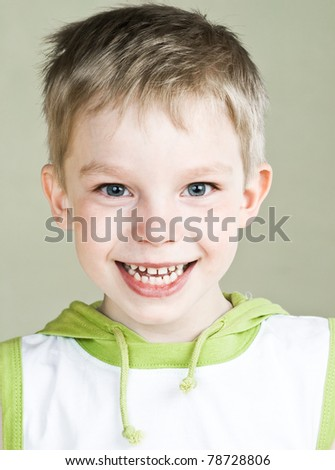 Happy little boy with sweet smile