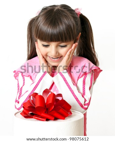 happy little girl great gifts