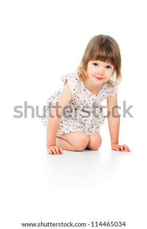 happy little girl laughing
