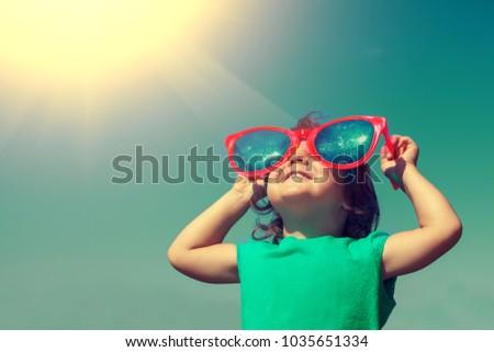 happy little girl with big...