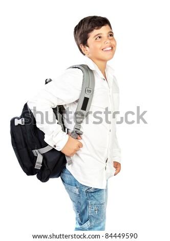 Happy Little Boy Back to School