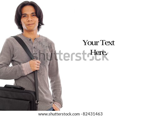 Happy Male with Messenger Bag