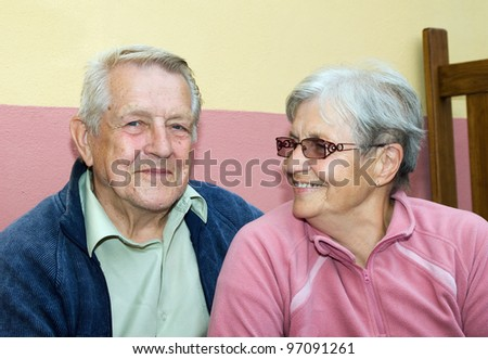 Happy married couple of seniors