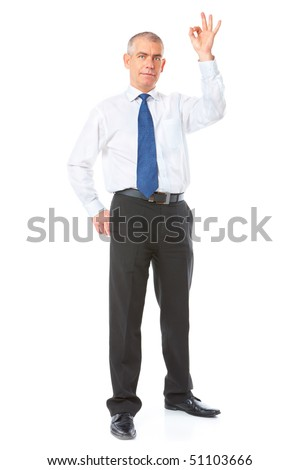 stock photo happy mature businessman standing showing ok sign meaning success in business full body image 51103666 Raye hollitt nude photos  Just then a room full of tea in a straight face ...