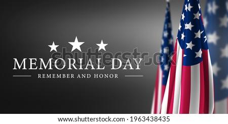 Happy Memorial Day Grey Background
