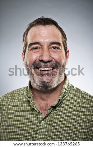 Happy Middle Aged Man Portrait