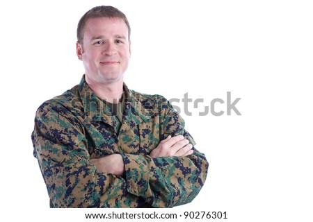Happy Military Man