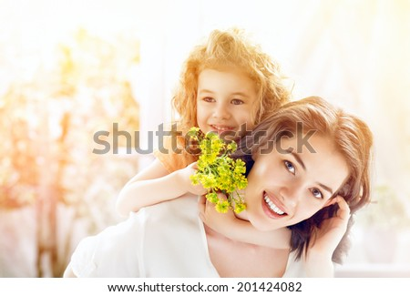 happy mother and child together #201424082