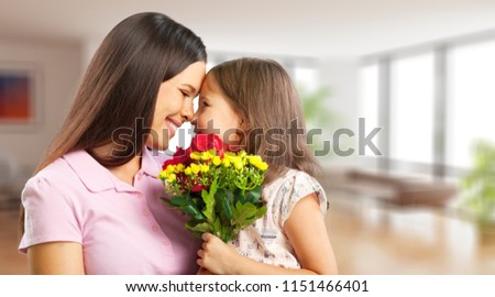 Happy Mother and daughter hugging #1151466401