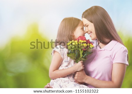 Happy Mother and daughter hugging #1155102322