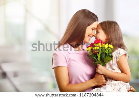 Happy Mother and daughter hugging #1167204844