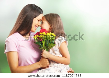 Happy Mother and daughter hugging #1187074765