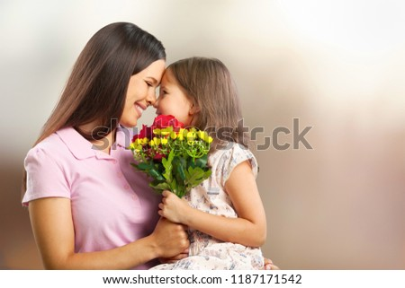 Happy Mother and daughter hugging #1187171542