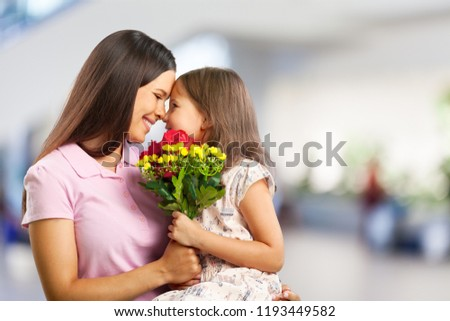 Happy Mother and daughter hugging #1193449582