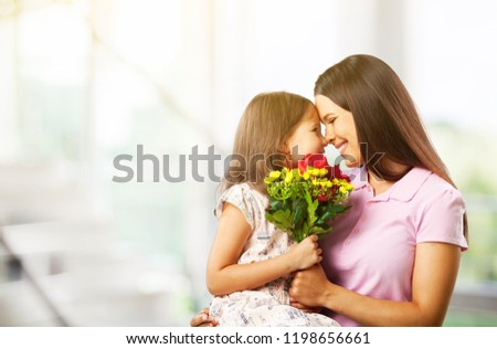 Happy Mother and daughter hugging #1198656661